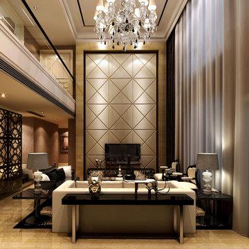 东易日盛 成都店 别墅装修设计 室内家庭装修 中式风格装修效果图