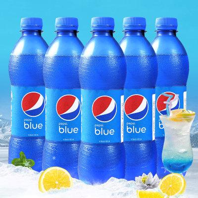 印尼进口网红 蓝色可乐梅子味碳酸饮料450ml*5瓶