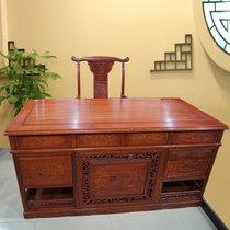 红木家具1.6米红木书桌?#30340;?#21150;公桌大班台老板桌非洲黄花梨木