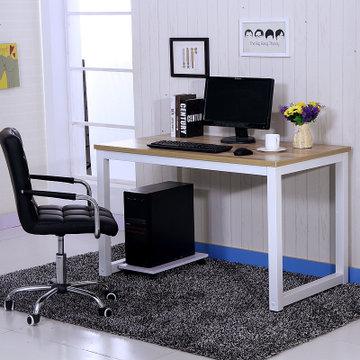 双艳琼涵*钢木结构餐桌 休闲电脑桌现代时尚写字台简约电脑桌宜家简易图片
