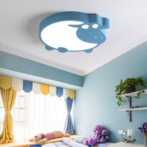 詩斑迪 輕奢客廳燈臥室燈兒童房家用 北歐現代簡約創意圓環吸頂燈臥室燈飾(LM634)(藍 暖光 直徑40cm)