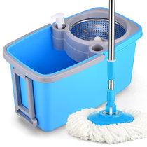 如诺 免手洗平板拖把 平拖拖布擦木地板瓷砖旋转墩布自滤水平拖 蓝色 标配(2个拖把头)(蓝色)(标配(2个拖把头))