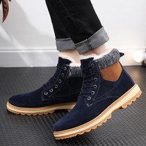 太子龍2019款新款火爆保暖雪地靴男士休閑加絨馬丁靴韓版潮流男靴子  SXPN99(藍色 44)