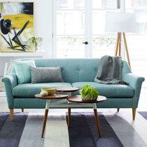 TIMI天米 简欧?#23478;?#27801;发 现代简约单人双人三人沙发 客厅小户型沙发组合(湖蓝色 双人沙发)