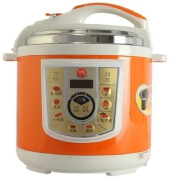 爱妻aq60-100a 电压力锅 智能温控 自动保温 橙色 多功能