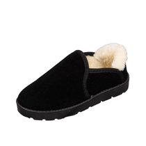 羊骑士 冬季加绒保暖雪地靴女面包鞋女学生懒人一脚蹬棉鞋加绒豆豆女鞋棉鞋经典款雪地靴低帮(FS197黑色 40)