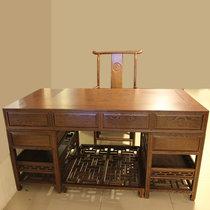 红木家具1.6米红木书桌?#30340;?#21150;公桌大班台两件?#26700;?#26495;桌鸡翅木