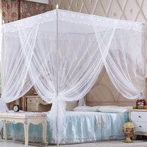 黛格床上用品公主风三开门加密加高蚊帐支架加密1.5m加厚1.2床家用1.8米(粉色)