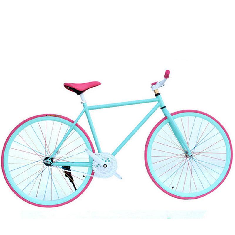 【金海马自行车整车图片】高品质26寸死飞单车 默认可