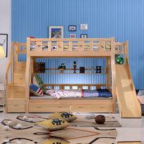 都市名門 實木滑梯床子母床兒童床雙層床兩層上下床大人床高低床雙層成年成人床孩童床上下鋪帶護欄臥室組合木質床(默認 默認)