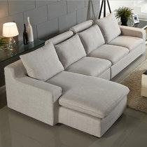 左右沙发可拆冼小户型布艺沙发简约现代沙发l型转角沙发木质沙发dzy