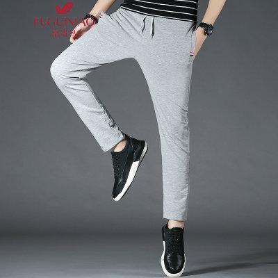 富贵鸟 FUGUINIAO 休闲裤男运动时尚休闲长裤弹力透气卫裤 16067FG8633(灰色 XXXL)