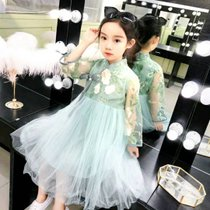 女童漢服夏裝中國風彼岸花古裝超仙襦裙連衣裙兒童小女孩仙女童裝八件裝(xs 白)