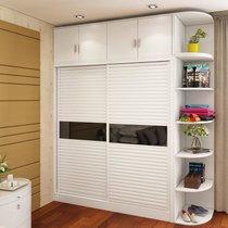 伊美芳妮(Emayfongn)推拉門衣柜 整體2門雙門移門趟門大衣櫥臥室板式衣柜現代簡約組合家具(單衣柜 1.2米主柜)