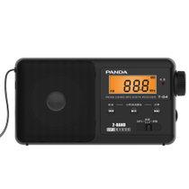 熊猫(PANDA) T-04 收音机 锂电池 支持TF卡 液晶显?#37202;?黑色