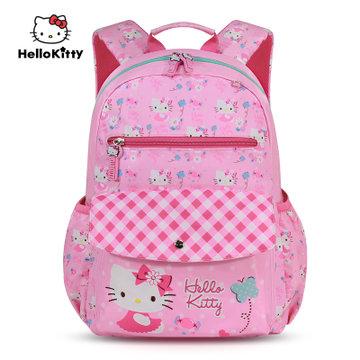 凯蒂猫hello kitty儿童书包女小学生可爱双肩包粉色公主包1-6年级(sk