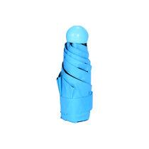 雨寶 迷你五折傘膠囊傘純色小清新遮陽傘黑膠防曬紫外線YB-0827(默認 默認)