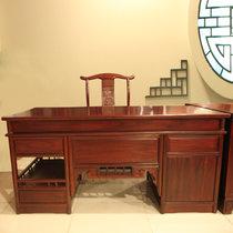 红木家具1.7米红木书桌椅?#30340;?#21150;公桌大班台非洲酸枝木