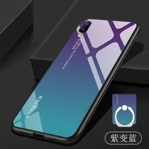 vivox23幻彩版手机壳 VIVO X23幻彩版保护套 x23 幻彩版个性?#20449;?#30789;胶全包防摔钢化玻璃镜面渐变保护壳(图8)