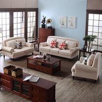 浪漫星 沙发 布艺沙发 美式乡村小户型组合沙发  113#(双位)
