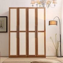 A家家具 衣柜 實木衣柜 二門四門大衣柜 現代簡約風格衣櫥 4門衣柜(衣柜 兩門)