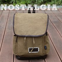 SELECT帆布包男女双肩包背包学生书包13寸15寸电脑包旅行休闲包 卡其色LS01(卡其色)