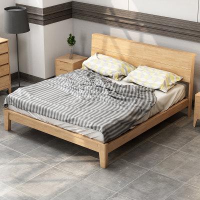 美天乐 北欧实木双人床 1.8*2米
