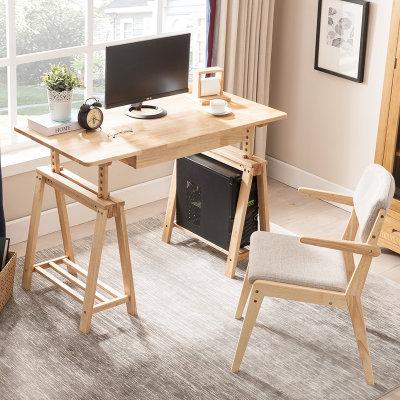 夏树 SZ7011 可升降实木书桌( 1.2米单桌)