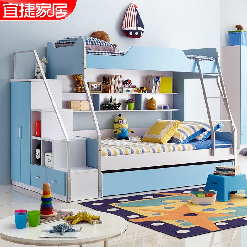 宜捷家居房子床上下床梯形床物体高低母儿童2010cad床上怎么画儿童图片