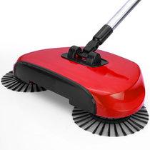 安尚掃地機新款手推自動掃地機不用電不揚塵更靜音不彎腰靜音吸塵器地板清潔器無須用電可伸縮掃把掃帚做家務便捷掃地好幫手(紅色)