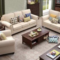 乔林曼兰 沙发 美式乡村北欧风格布沙发 客厅组合套装(定制颜色 1+2人位)