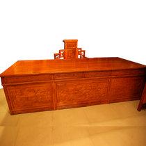 红木家具2.8米红木书桌?#30340;?#21150;公桌老板台大板非洲黄花梨木