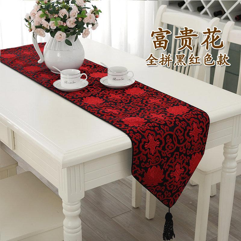 桌旗产品效果图手绘