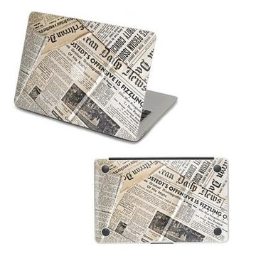skinat 苹果笔记本 正底面保护彩膜 新闻报纸 适用macbook系列(air 11