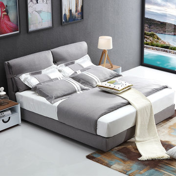 8*2实木床 床垫 床头柜*1)