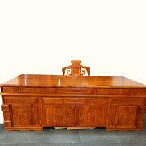 红木家具2.4米红木书桌?#30340;?#21150;公桌老板桌椅两件套非洲黄花梨木(其他 办公桌+椅子)