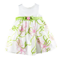 宝宝夏季公主裙婴儿裙子女童连衣裙小童裙子礼服衣服背心裙(无袖翠绿色 85cm 18M)