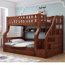 都市名門 兒童床實木上下床多功能美式高低床雙層床成人母子床上下鋪子母床雙人木質床(2 4)