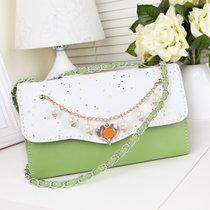 2017新款链条女包学院风时尚潮流韩版女士小包包潮包(绿色)