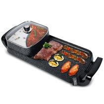 拜杰(Baijie)SN08-F28电烤盘家用电烧烤炉麦饭石韩式无烟多功能烤肉锅烤串烤肉机(黑色 热销)