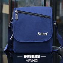 SELECT精品男包休?#20449;?#27941;布包单肩包斜挎包商务休闲韩版男士通勤包LS-22