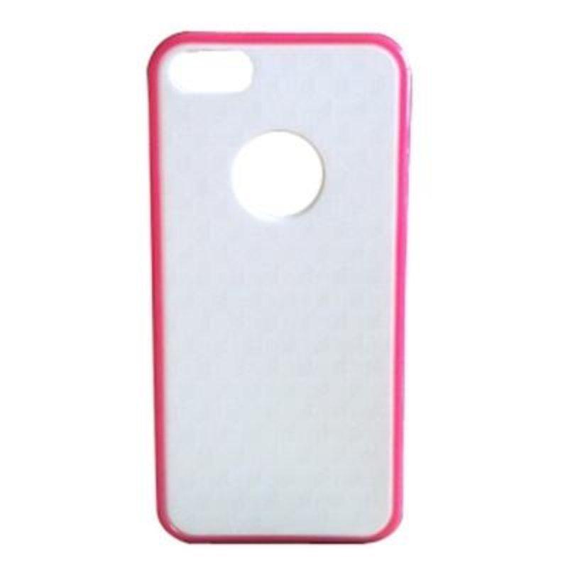 贝币(bb)苹果iphone5糖果色外框 手机壳 白底3d纹 黑底3d(白玫红框
