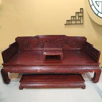红木家具红木罗汉床三件套?#30340;?#32599;汉床中式仿古非洲酸枝木
