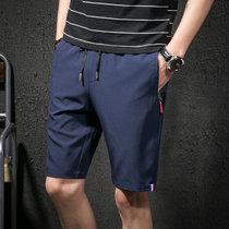 2018夏季短裤男式跑步运动裤男士裤五分裤韩版青少年学生(4XL)(深蓝)