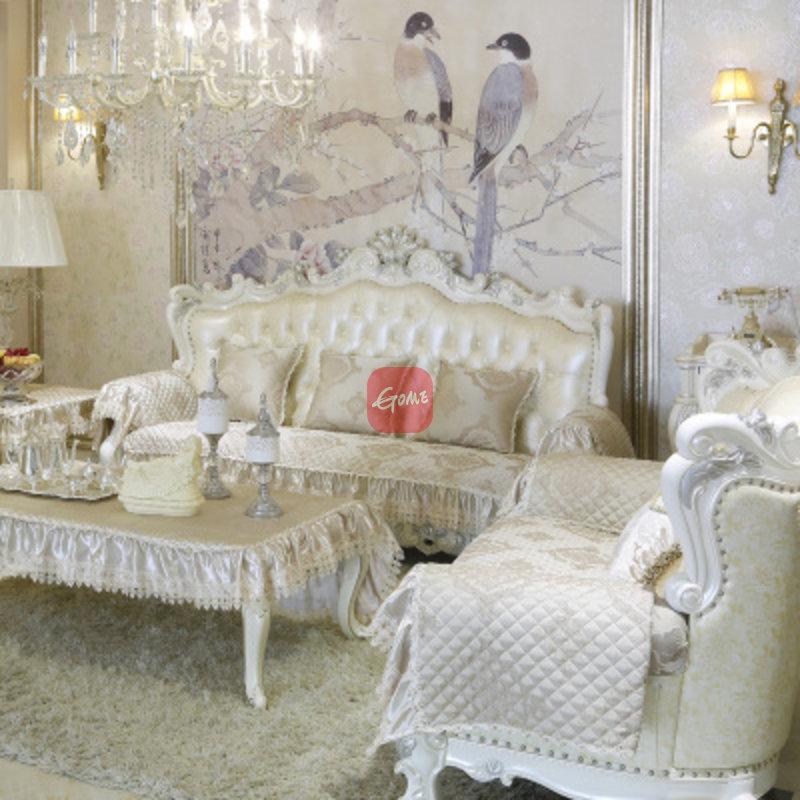 芙雪家纺 欧式风格一帘幽梦沙发垫 3d立体绣花 客厅防滑(一帘幽梦