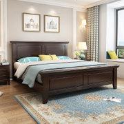美天乐简约现代美式实木床1.8*2米框架款