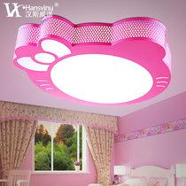 簡約創意卡通Kitty貓男女孩兒童房燈具led臥室吸頂燈HS102012(粉色 其他)