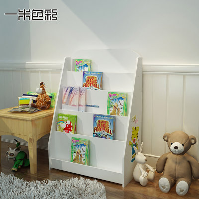 一米色彩 巧虎卡通儿童书架 80*60*30cm