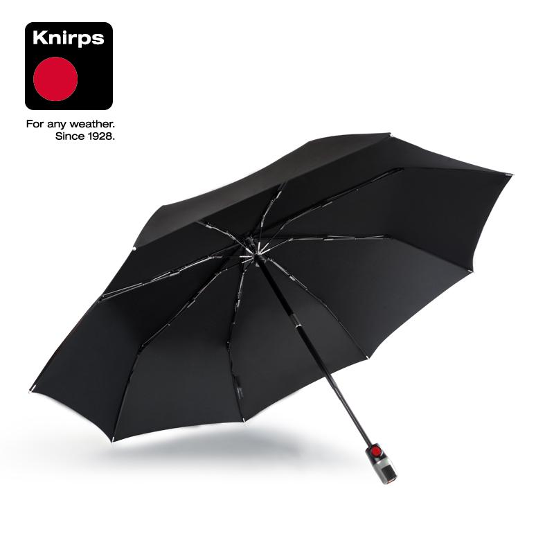 knirps t3德国全自动伞 三折折叠伞 男女士商务伞 户外防雨伞(幻影黑)