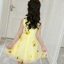 女童裙子2019新款韓版潮夏天時髦兒童連衣裙夏裝洋氣小女孩公主裙六件套(xs)